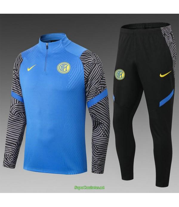 Tailandia Chandal Inter Milan Niño Equipacion Azul/negro 2021