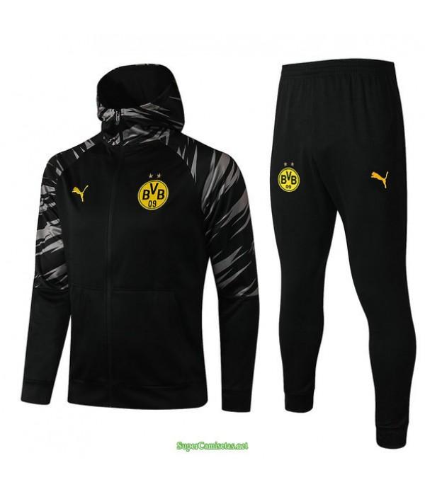 Tailandia Chandal Con Capucha Borussia Dortmund Negro 2021