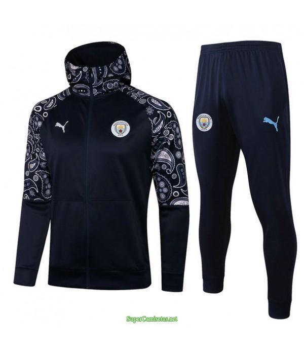 Tailandia Chandal Con Capucha Manchester City Azul Marino 2021