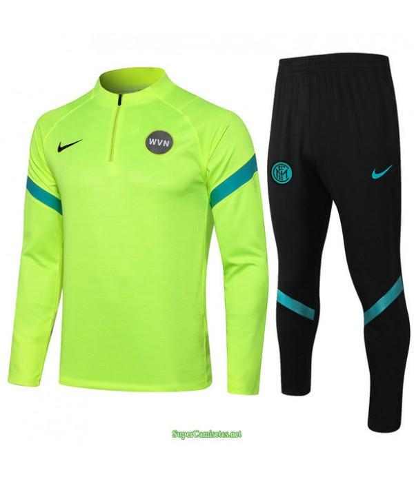 Tailandia Chandal De Foot Inter Milan Verde Claro 2021