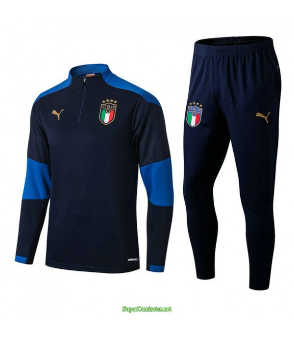 Tailandia Chandal De Foot Italia Azul Real 2021