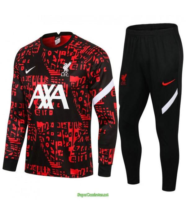Tailandia Chandal De Foot Liverpool Rojo/negro Col Rond 2021