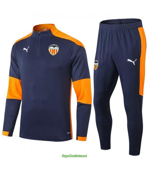 Tailandia Chandal De Foot Valencia Azul Marino 2021