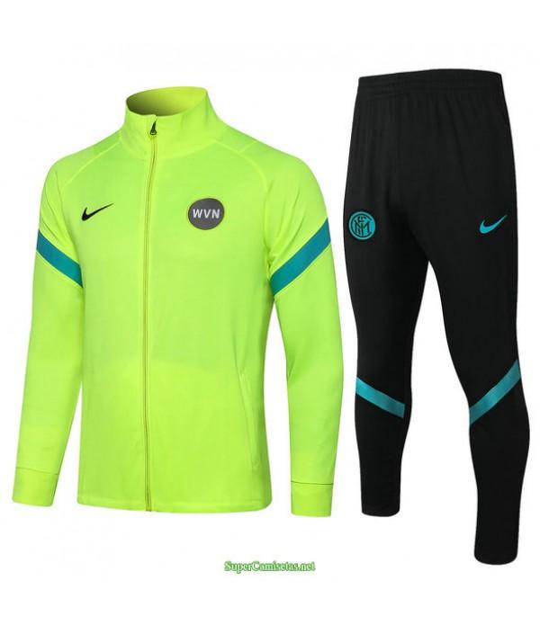 Tailandia Chaqueta Chandal Inter Milan Verde Claro Col Haut 2021