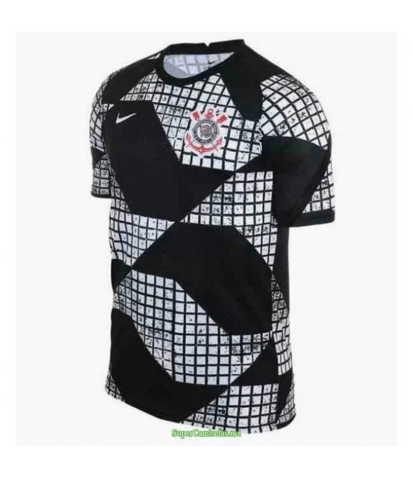 Tailandia Equipacion Camiseta Corinthians Entrenamiento Negro 2020