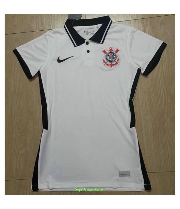 Tailandia Equipacion Camiseta Corinthians Mujer Blanco 2021