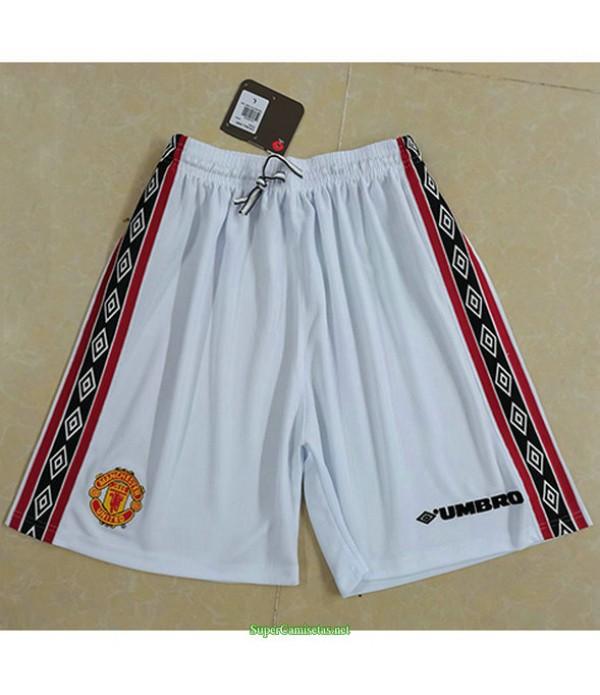 Tailandia Equipacion Camiseta Hombre Manchester United Short Blanco