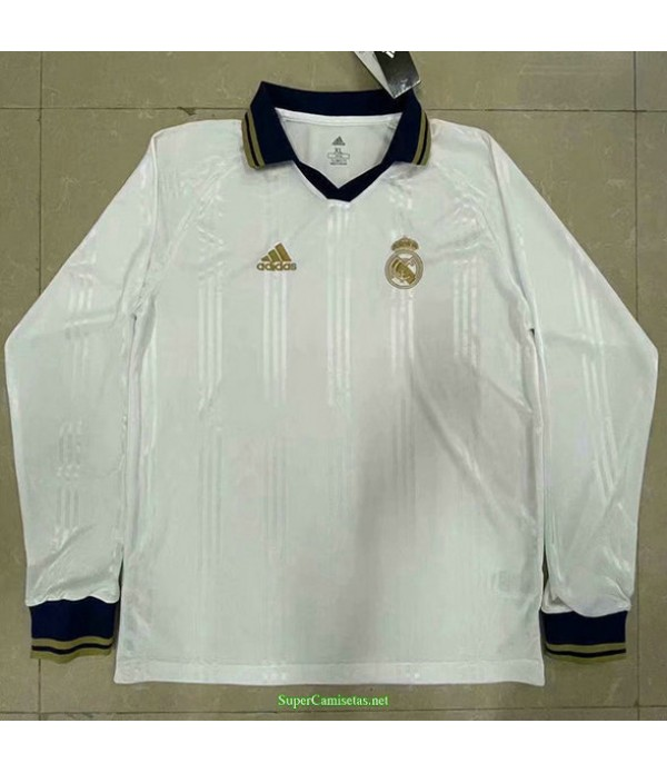 Tailandia Equipacion Camiseta Hombre Real Madrid Manga Larga Entrenamiento