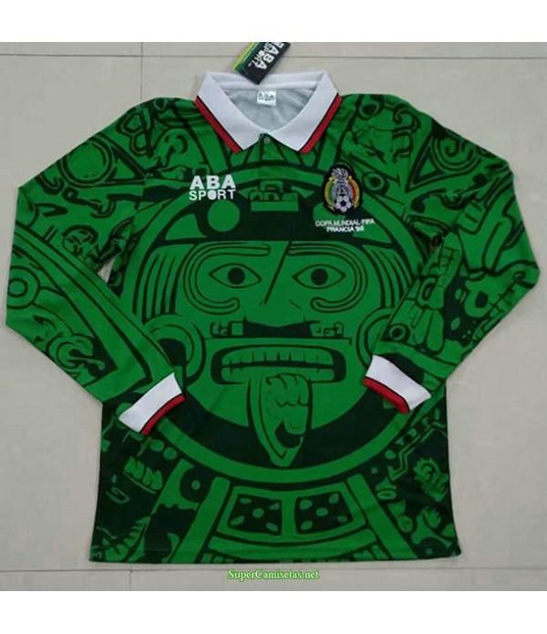 Tailandia Equipacion Camiseta México Manga Larga Hombre 1998