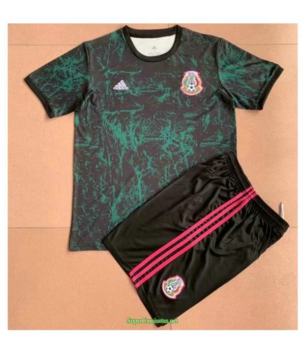 Tailandia Equipacion Camiseta México Ninos Entrenamiento Verde 2021