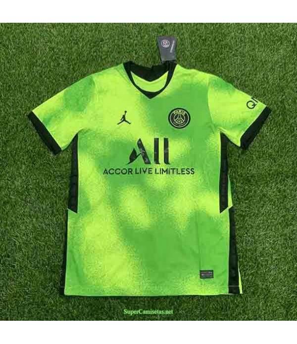 Tailandia Equipacion Camiseta Psg Jordan Verde Edi...