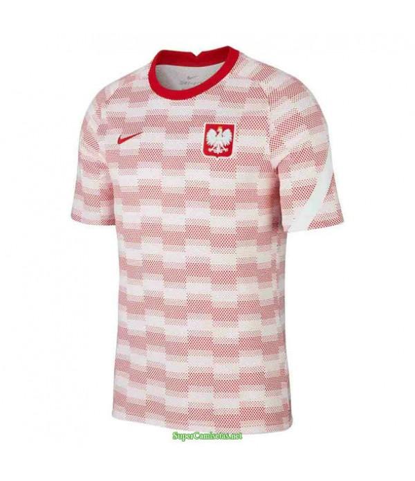 Tailandia Equipacion Camiseta Polonia Pre Match Entrenamiento Blanco 2020