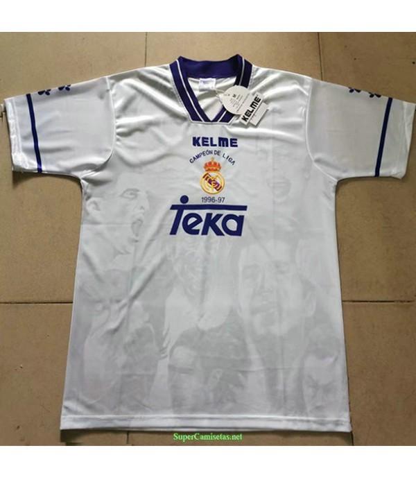 Tailandia Equipacion Camiseta Real Madrid Liga De Campeones Hombre 1996 97