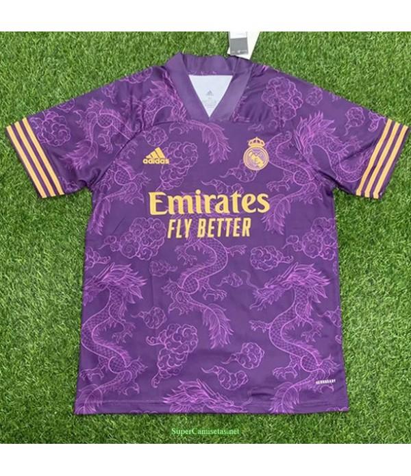 Tailandia Equipacion Camiseta Real Madrid Púrpura...
