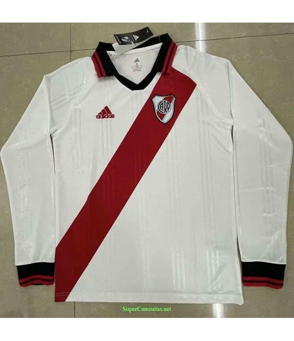 Tailandia Equipacion Camiseta River Plate Manga Larga Blanco 2021