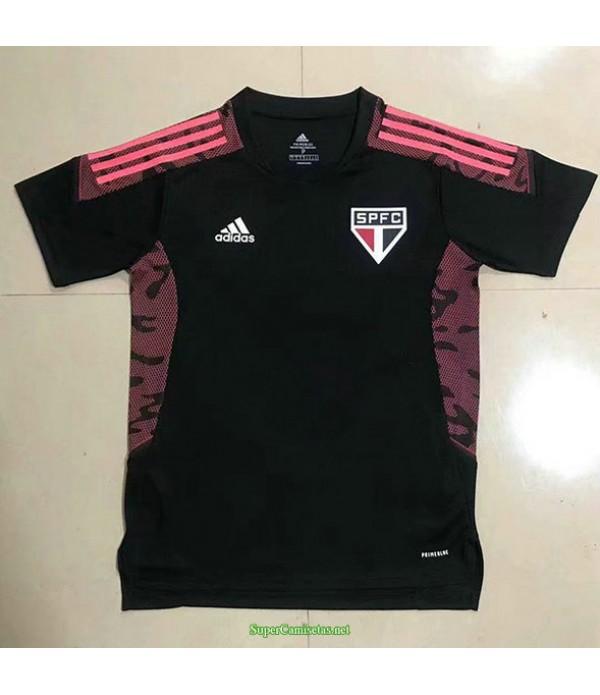 Tailandia Equipacion Camiseta Sao Paulo Entrenamiento Negro 2021