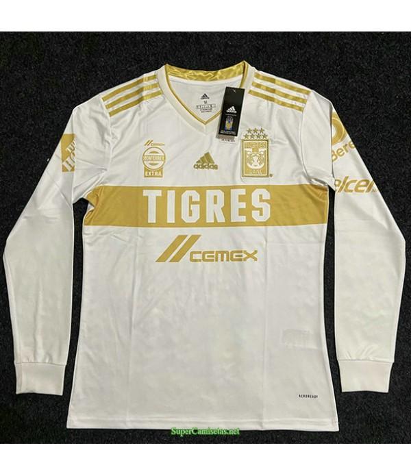 Tailandia Equipacion Camiseta Tiger Manga Larga Blanco 2021