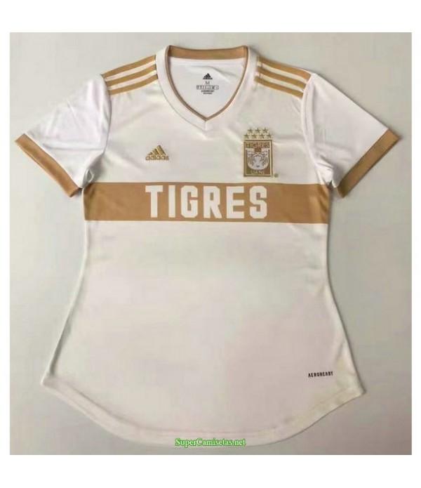 Tailandia Equipacion Camiseta Tigres Mujer Blanco 2021