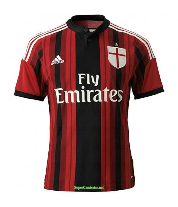 Tailandia Primera Equipacion Camiseta Ac Milan Hombre 2014 15