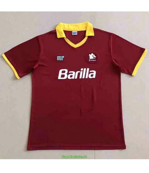 Tailandia Primera Equipacion Camiseta As Roma Hombre 1989 90