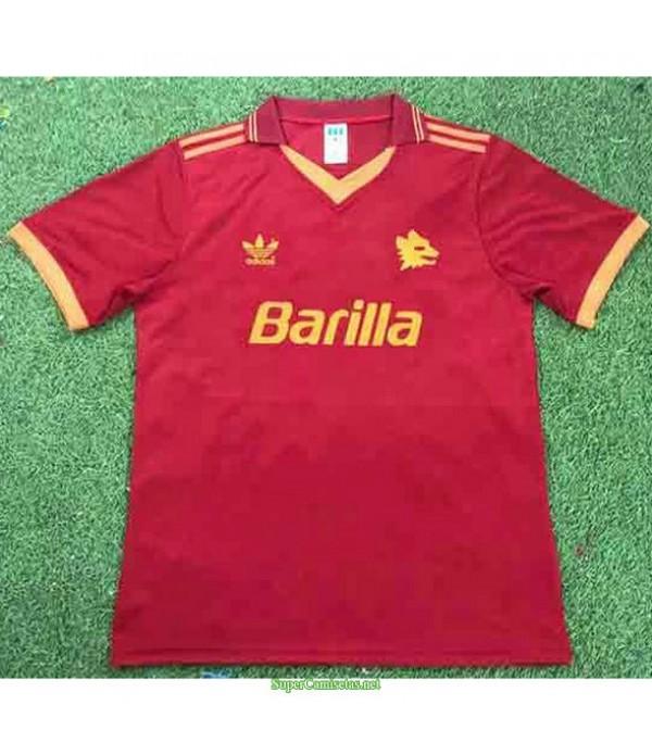 Tailandia Primera Equipacion Camiseta As Roma Hombre 1992 94