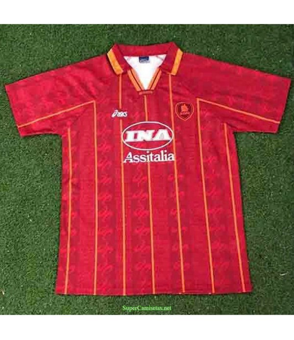 Tailandia Primera Equipacion Camiseta As Roma Hombre 1996 97