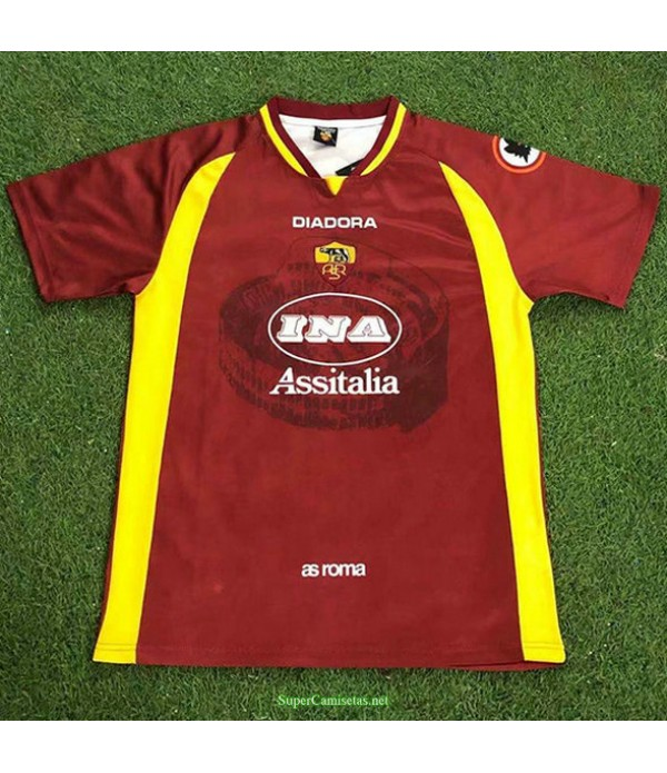 Tailandia Primera Equipacion Camiseta As Roma Hombre 1997 98