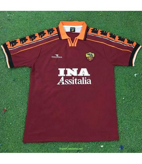 Tailandia Primera Equipacion Camiseta As Rome Hombre 1998 99