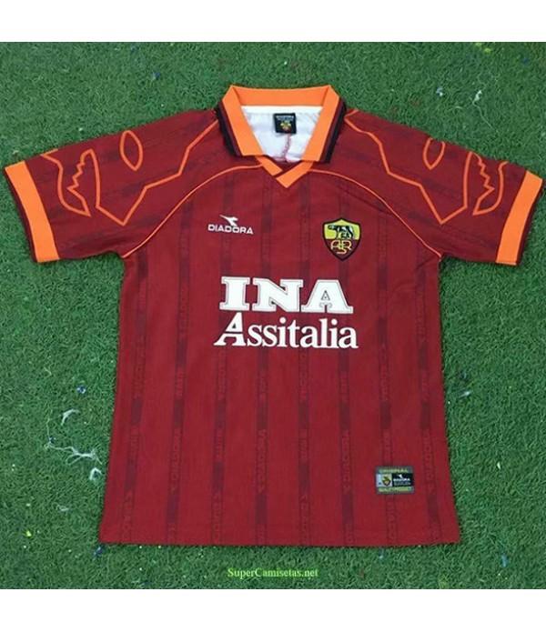 Tailandia Primera Equipacion Camiseta As Rome Hombre 1999 00