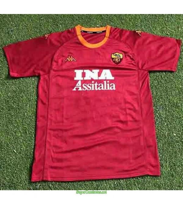 Tailandia Primera Equipacion Camiseta As Rome Hombre 2000 01
