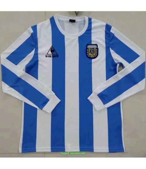 Tailandia Primera Equipacion Camiseta Argentina Manga Larga Hombre 1986