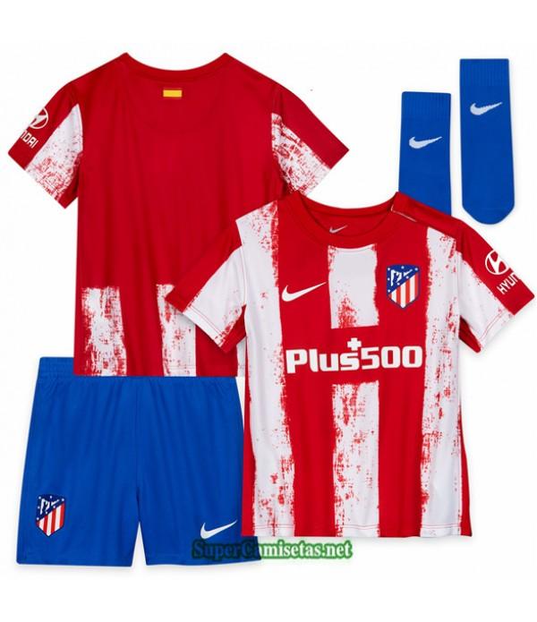 Tailandia Primera Equipacion Camiseta Atletico Madrid Ninos 2021