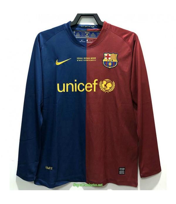 Tailandia Primera Equipacion Camiseta Barcelona Manga Larga Hombre 2008 09