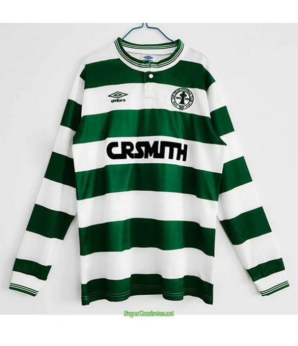Tailandia Primera Equipacion Camiseta Celtic Manga Larga Hombre 1987 88