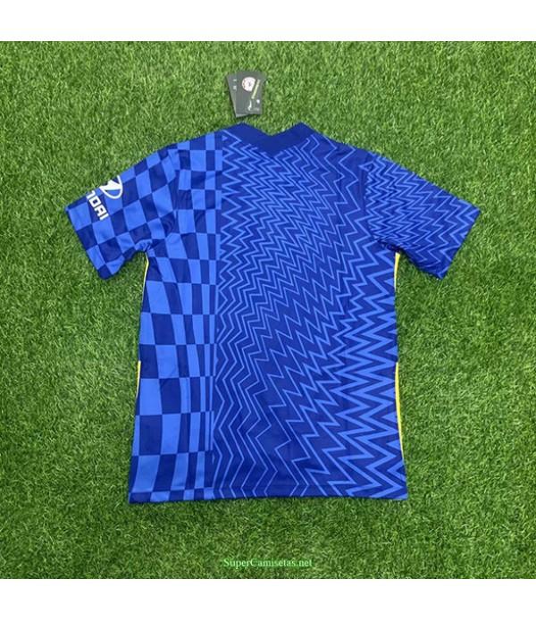 Tailandia Primera Equipacion Camiseta Chelsea Azul 2021