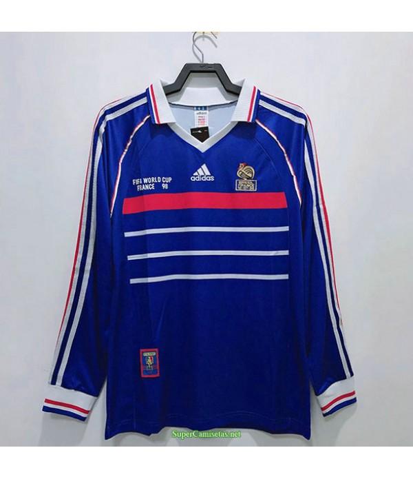 Tailandia Primera Equipacion Camiseta Francia Manga Larga Hombre 1998