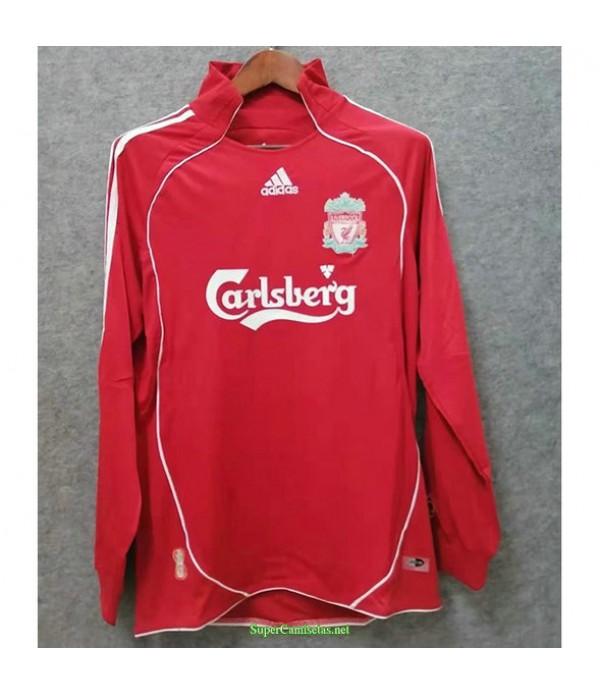 Tailandia Primera Equipacion Camiseta Liverpool Manga Larga Hombre 2006 08