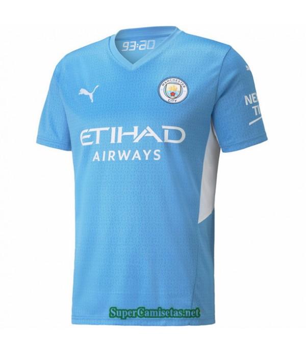 Tailandia Primera Equipacion Camiseta Manchester City Azul 2021