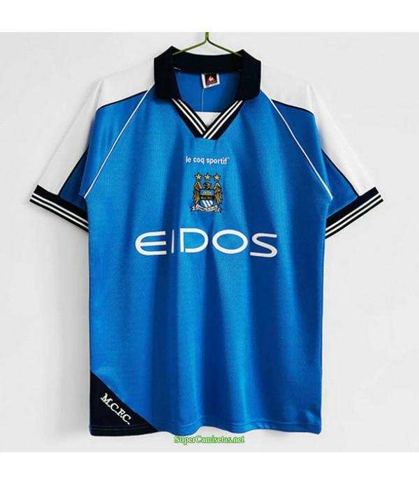 Tailandia Primera Equipacion Camiseta Manchester City Hombre 1999 01