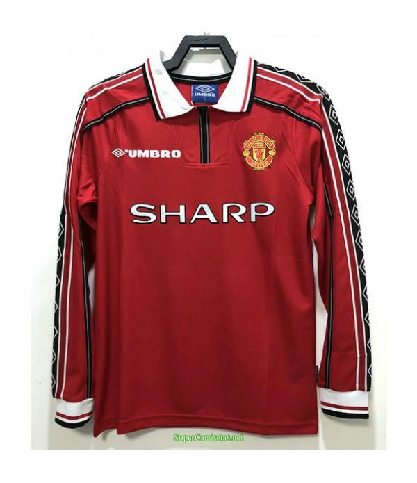 Tailandia Primera Equipacion Camiseta Manchester United Manga Larga Hombre 1998
