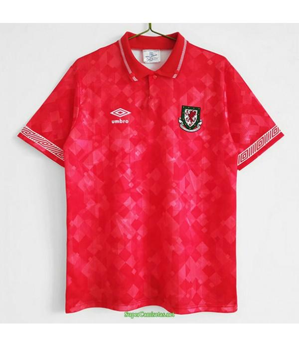 Tailandia Primera Equipacion Camiseta Wales Hombre 1990 92