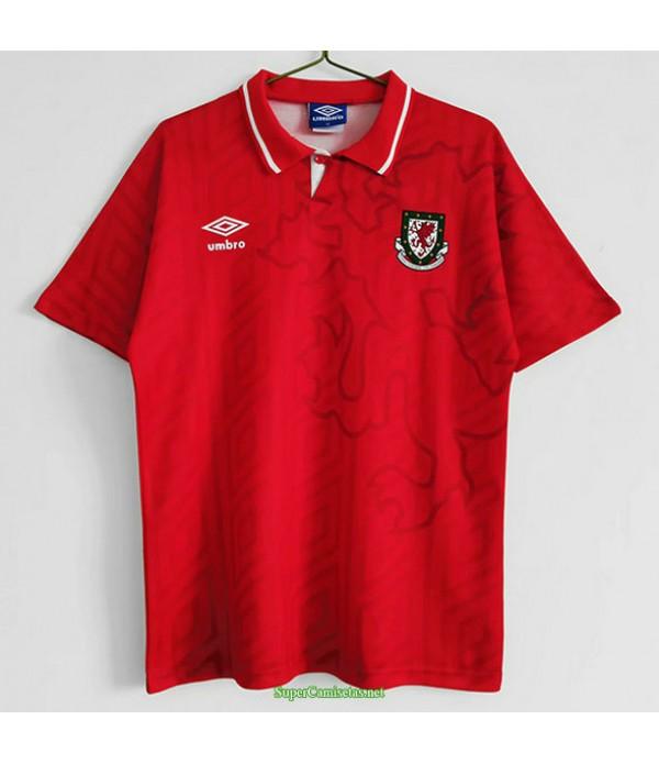 Tailandia Primera Equipacion Camiseta Wales Hombre 1992 94