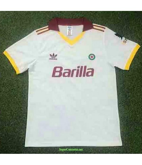 Tailandia Segunda Equipacion Camiseta As Roma Hombre 1991 92