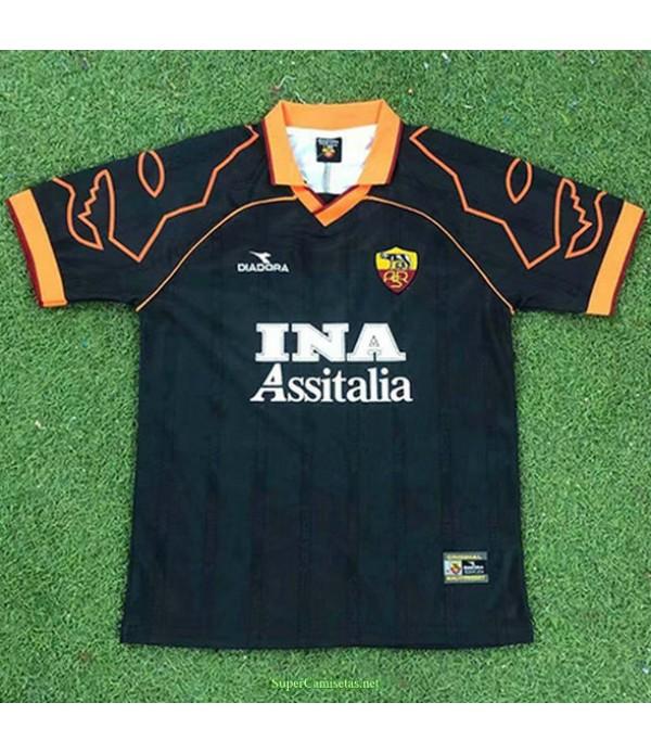 Tailandia Segunda Equipacion Camiseta As Rome Hombre 1999 00
