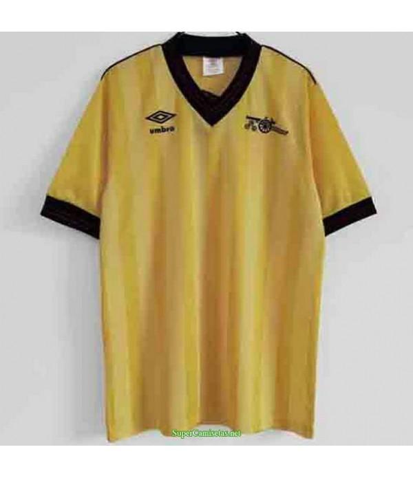 Tailandia Segunda Equipacion Camiseta Arsenal Amarillo Hombre 1984 86