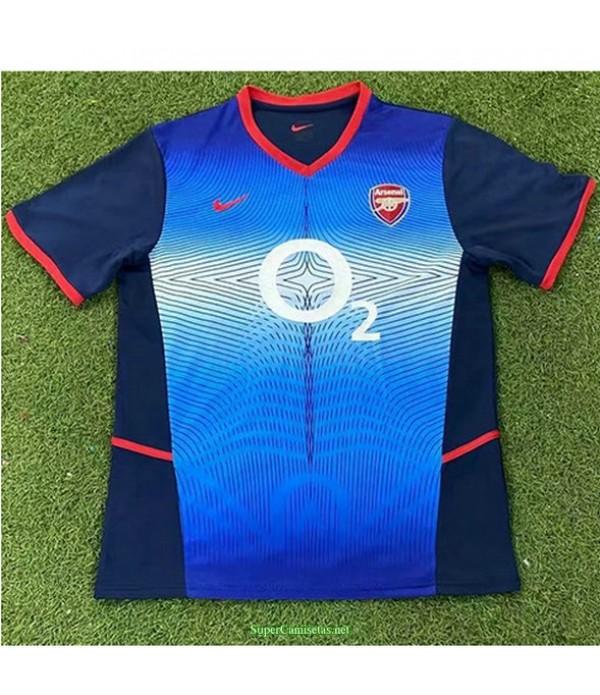 Tailandia Segunda Equipacion Camiseta Arsenal Hombre 2002 04