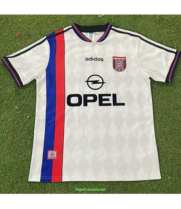 Tailandia Segunda Equipacion Camiseta Bayern Munich Hombre 1995 96