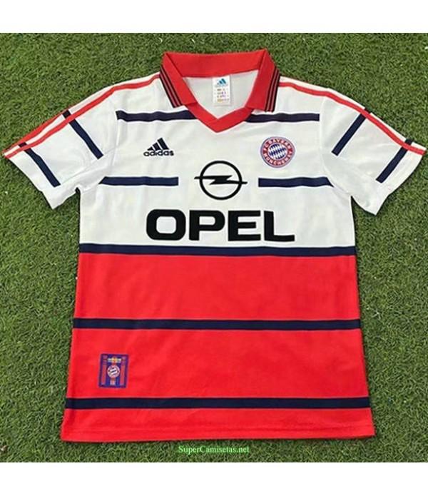 Tailandia Segunda Equipacion Camiseta Bayern Munich Hombre 1998 00
