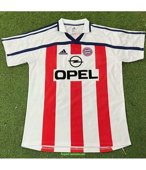 Tailandia Segunda Equipacion Camiseta Bayern Munich Hombre 2000 01
