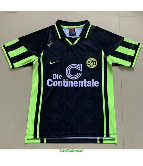 Tailandia Segunda Equipacion Camiseta Borussia Dortmund Negro Hombre 1996